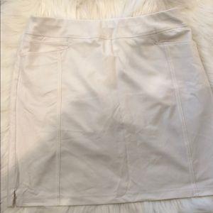 Adidas white golf skort small
